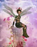 Fairy land. Illustration  of a fairy portrait ,3d render Royalty Free Stock Photo