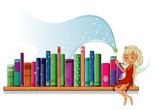 A fairy in the library Royalty Free Stock Photos