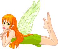 Fairy lies on a stomach royalty free illustration