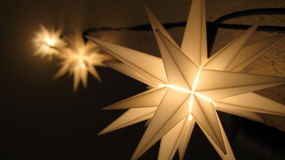 Fairy lights. Fariy star lights in the christmas time Stock Photos
