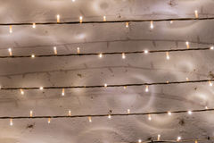 Fairy lights bulbs in series Stock Image