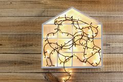 Fairy Lights and House Symbol Stock Photography