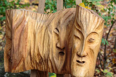 Fairy-like wooden figures Royalty Free Stock Images
