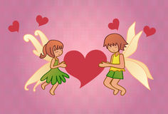 Fairy in love Royalty Free Stock Images