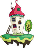 Fairy magic play houses mushrooms Royalty Free Stock Image