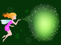Fairy with magic spell Royalty Free Stock Photography