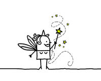 Fairy & magic wand Royalty Free Stock Images