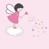 Fairy with magic wand. Love card Stock Photography