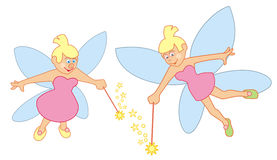 Fairy with magic wand Royalty Free Stock Photos