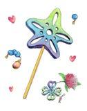 Fairy magic wand Stock Photo