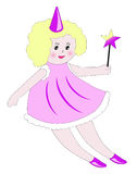 Fairy with magic wand Royalty Free Stock Image