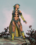 Fairy with Mohawk 3d CG royalty free illustration