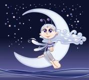 Fairy moon. Funny vector and cartoon character Royalty Free Stock Photo