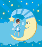 Fairy on moon. Stock Image