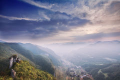 Fairy mountain in wulong, chongqing, china Royalty Free Stock Image