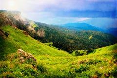 Fairy mountains landscape Stock Images