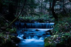 The Fairy Mountains River stock image