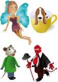 Fairy mouse devil dog Stock Photo