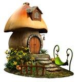 Fairy mushroom house Stock Image