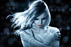Fairy nel vento immagini stock