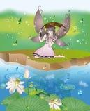 Fairy nella pioggia Immagini Stock