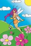 Fairy no céu ilustração do vetor