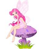 Fairy On The Mushroom Stock Images