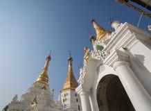 Fairy and pagoda at Shwedagon pagoda Stock Images
