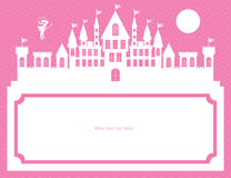 Fairy and palace template card Royalty Free Stock Images