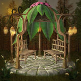 Fairy pavilion. In the middle of the forest Royalty Free Stock Photography