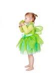 Fairy pequeno com râ verde imagem de stock royalty free
