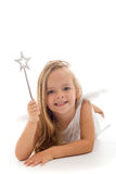 Fairy pequeno com varinha mágica Foto de Stock Royalty Free