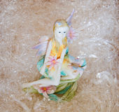 Fairy. Photo of ceramic fairy isolated Royalty Free Stock Images