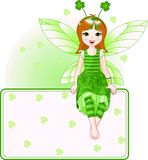 Fairy place card for St. Patricks Day Stock Photography