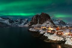 A fairy place named Hamnoy royalty free stock image