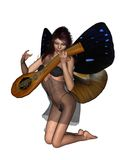 Fairy Playing a Lute stock images