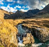 The Fairy Pools in autumn, Glen Brittle, Skye, Scotland royalty free stock photography