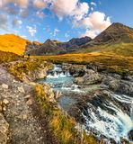 The Fairy Pools in autumn, Glen Brittle, Skye, Scotland royalty free stock photo