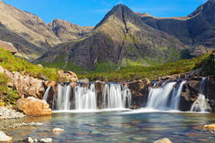 The Fairy Pools, Isle of Skye. The beautiful Fairy Pools on the Isle of Skye, Scotland royalty free stock images