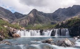 The Fairy Pools Isle of Skye. The Fairy Pools below the Cuillin mountains on the Isle of Skye, Scotland Royalty Free Stock Images