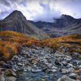 The Fairy Pools. Running clouds, running waters Royalty Free Stock Images