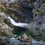 Fairy Pools, Skye. These pools are southeast of Glen Brittle Forest  The Fairy Pools are part of a stream running off of the Cuillin mountains on Skye, Scotland Royalty Free Stock Image