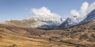 Fairy Pools track into the Cuillin hills on Skye. Royalty Free Stock Images