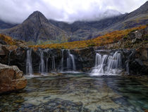 Fairy Pools waterfalls Stock Images