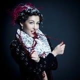 Fairy portrait of beautiful santa helper Royalty Free Stock Photos