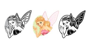 Fairy Portrait. S isolated on white Royalty Free Stock Photo