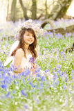 Fairy Princess in Bluebells Stock Images