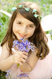 Fairy Princess in Bluebells Stock Photos