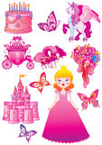 Fairy princess collection. Royalty Free Stock Photography