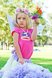 Fairy Princess With Flowers Royalty Free Stock Image